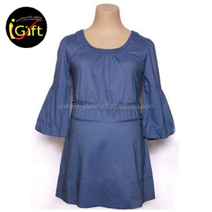 cotton blue pregnant women long blouse
