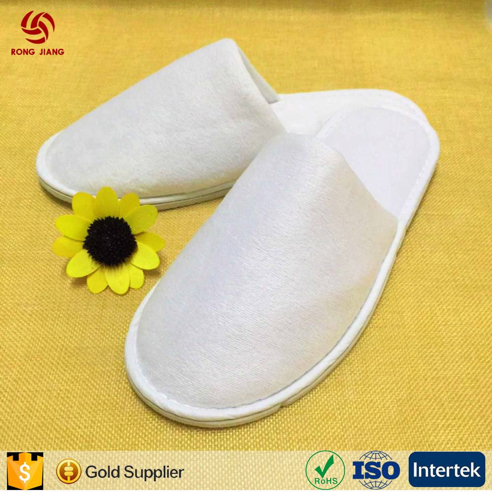 2017 Cheap Cotton Velvet Disposable hotel slippers Closed toe disposable Shoe