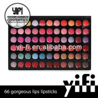 66 Color Makeup Lip Gloss Palette cosmetic pearlescent powder
