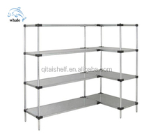 NSF & ISO approved stainless steel solid shelving