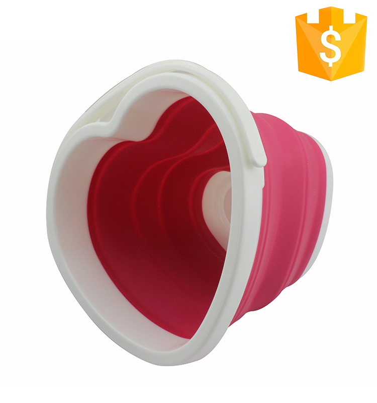 Custom Camping Foldable Bucket Silicone Water Folding Bucket Collapsible Bucket