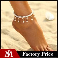 Bohemian Imitation Pearl Anklets For Women Sexy Ankle Bracelet Sandals Pulseras Tobilleras Mujer Foot Jewelry Gifts