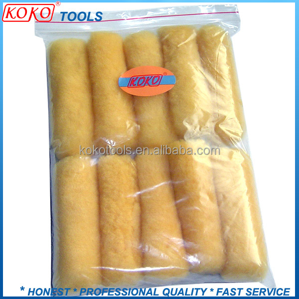 Small yellow color Sheep derma skin roller