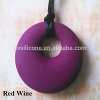 Best quality professional colors silicone pendant teething