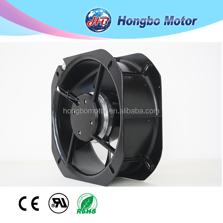 225*225*80 high temperature metal blade cooling fan for exhaust fan and AC industry axial flow duct fan