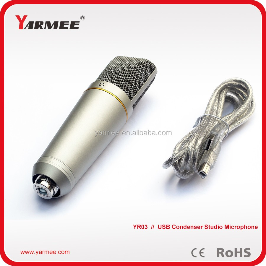 Computer microphone / studio recording microphone with usb YR03--YARMEE