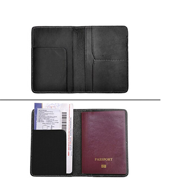 Boshiho credit card holder vintage black travel wallet rfid passport wallet leather