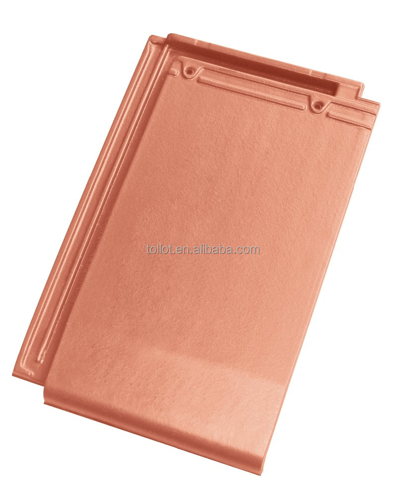 Factory Sale Building Materials Red Clay Roof Tiles-Geverny Vermilion Color