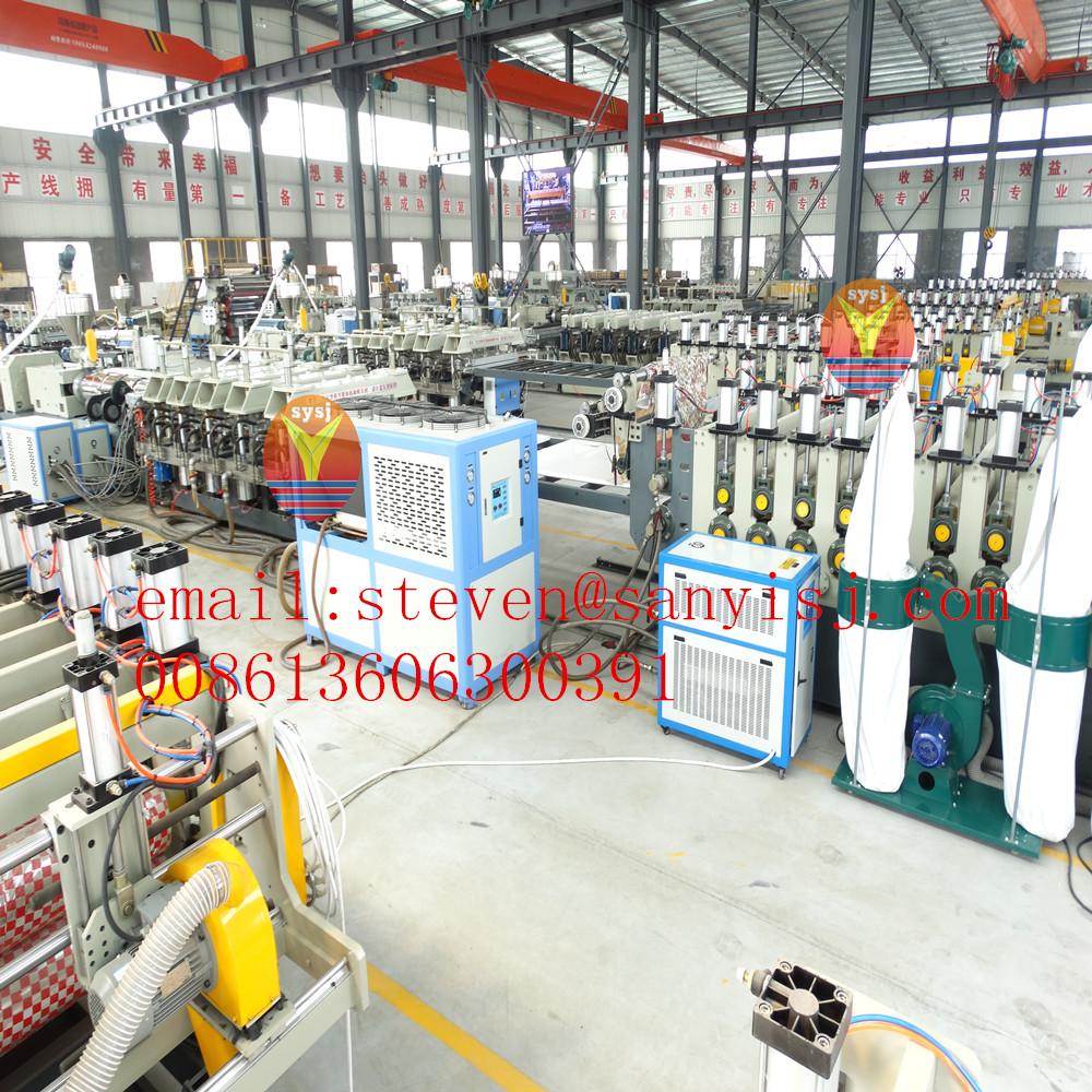 PVC sheet making machinery