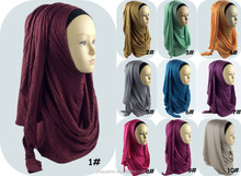 glitter cotton jersey instant shawl shimmer plain slip scarf hijabs wholesale