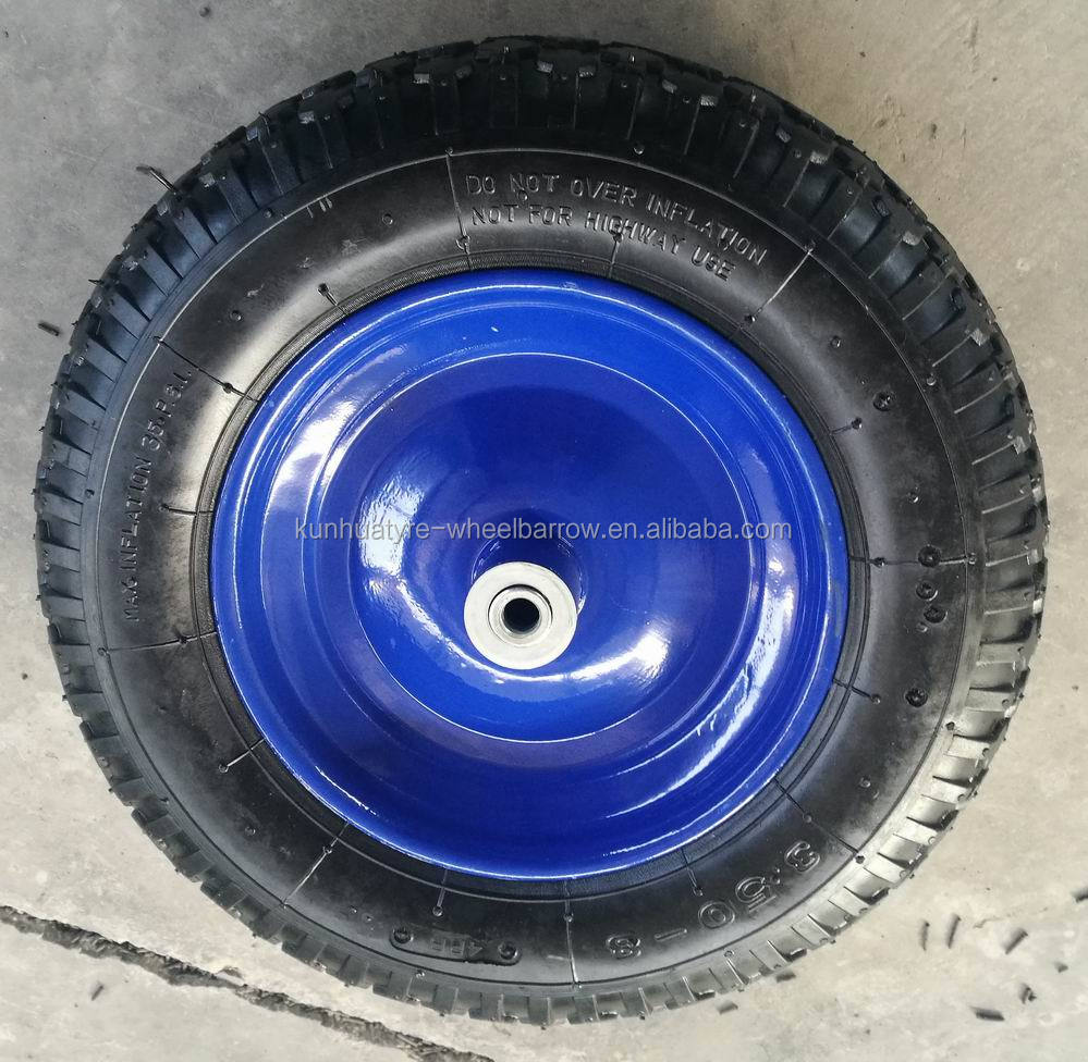 high quality competitive price wheel barrow parts 14 inch rubber wheel 3.50-8
