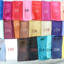 solid color square scarf 90*90cm plain satin silk headwear hijab