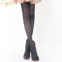 Vertical pressed flower sexy embroidered tights
