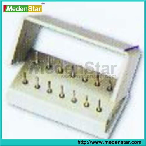High quality with stock Dental aluminium opening burs holder for 14 pcs of burs BHX014