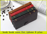 2015 cool , book vintage leather wallet case for iphone 6plus 6s plus
