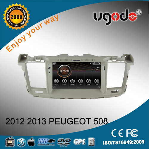 touch screen car DVD player for Peugeot 508 year 2012-2013