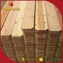 Chinese fir dog ear wood fence pannels outdoor wood fence
