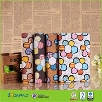High quality Sunfolwer Canvas PU Leather Cases Cover Housing for iPad Mini Tablets