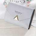 Women's short, solid color clasp simple, casual, small and fresh wallet multi-functional wallet