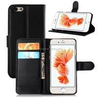 Factory Price Flip Leather Hard Skin Pouch Wallet Case Cover For iPhone 6 6s