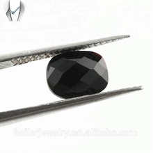 AAA Checkerboard Black Cushion Cut Faceted Glass Loose gemstone