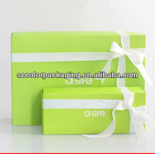 2013 New Design Hot Sale Fashion Printing Eco-friendly Paper Fold Up Candy Chocolate Packing Boxes