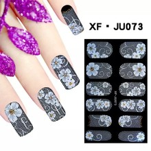 fake finger seashells tattoo stockings full tips nail sticker