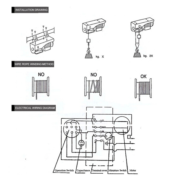 pa200b electric hoist wiring diagram