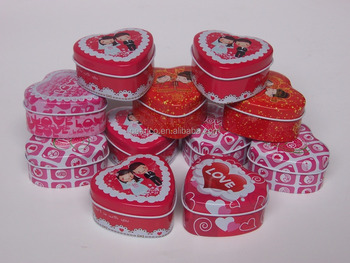 I loVE U heart gift tin box or Wedding gift tin box