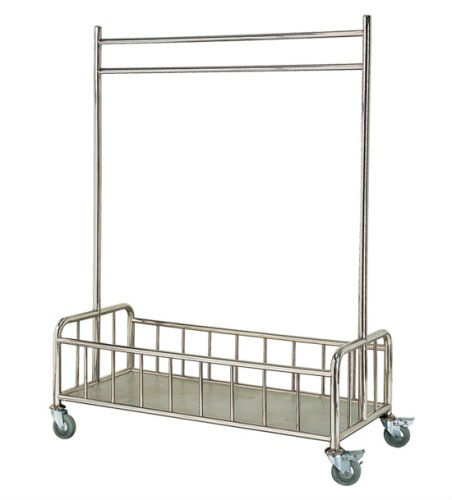 Stainless Steel Liner Hanging Trolley c/w Bottom Basket Compartment