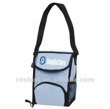 Light blue insulated lunch cooler bag with 600D Nylon