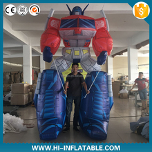 High quality Inflatable Robot Man cartoon Character inflatable optimus prime