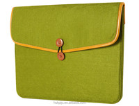 Best selling ladies business wool felt pc bag with charger pouch