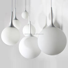 Nordic Style classic design pendant lamp white glass globe pendant light for home decor simple coffee bar and restaurant