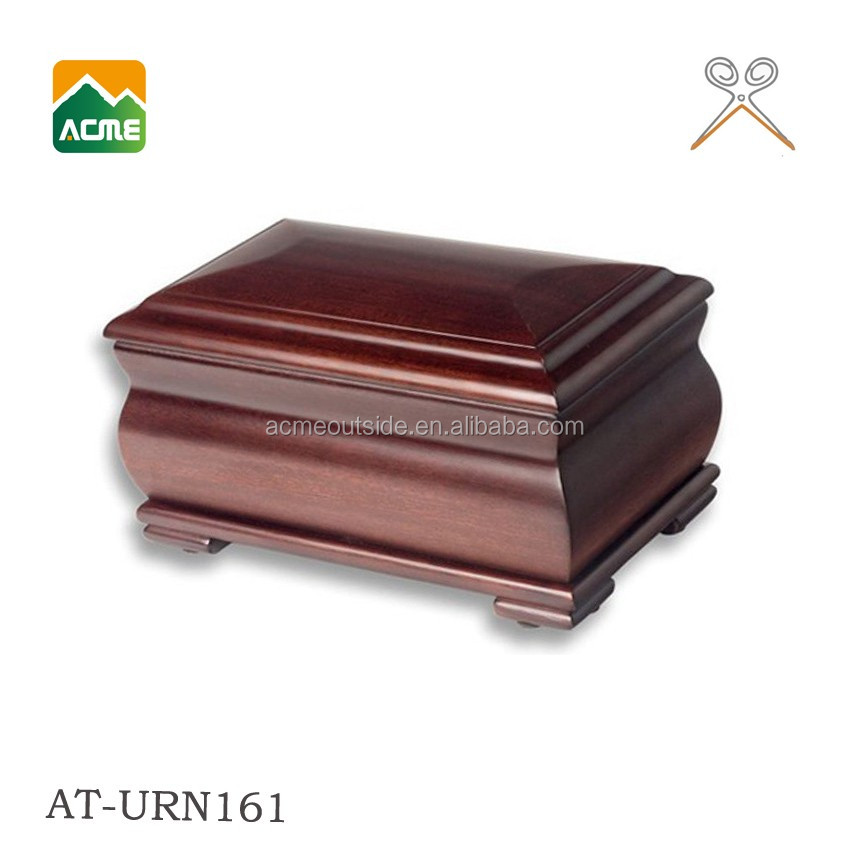 AT-URN161 wooden colorful high quality cremation urn