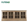 New style pure solid wood kitchen cabinet cupboard sideboard