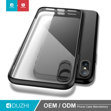 DUZHI Wholesale transparent clear TPU silicone bumper PC back case cover phone shell shockproof mobile phone case for iphoneX