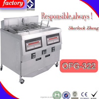 High quality used professional deep open fryer/Counter-top potato chip fryer for sale with stainless steel baskets open fryer