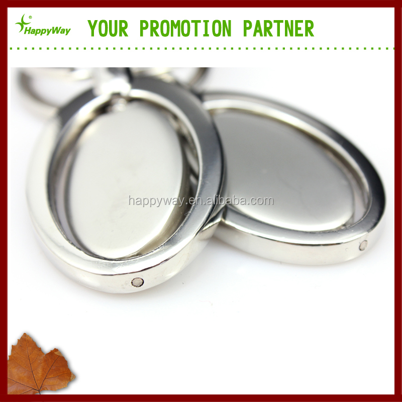 Customized Promotional Metal Key Ring, MOQ 100 PCS 0403093 One Year Quality Warranty