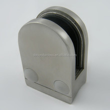 Stainless Steel round back D glass clamp