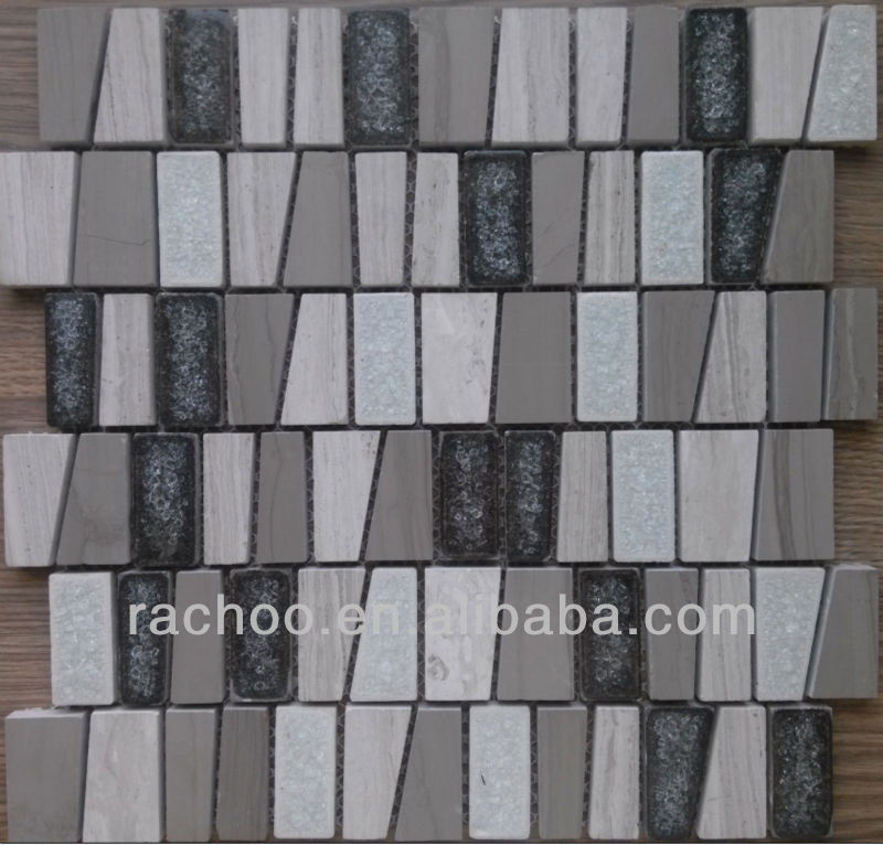 Crackle glass stone mosaic