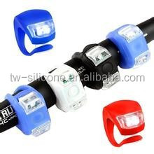 LED Front and Back Silicone Bike Light/Red LED Bicycle Safety Light