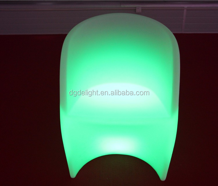 High Quality Rotational Moulding Plastic Furniture Light up Flower Shaped LED Chair