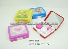 beauty eye contact lens,contact lens kit rhinestone contact lens case