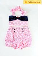 Newborn clothing cute pink polka dot pop clothing for baby girls easter clothes girls outfit