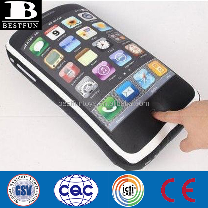custom made promotional inflatabel smartphone giant inflatabel cellphone funny plastic inflatable mobilephone pillow