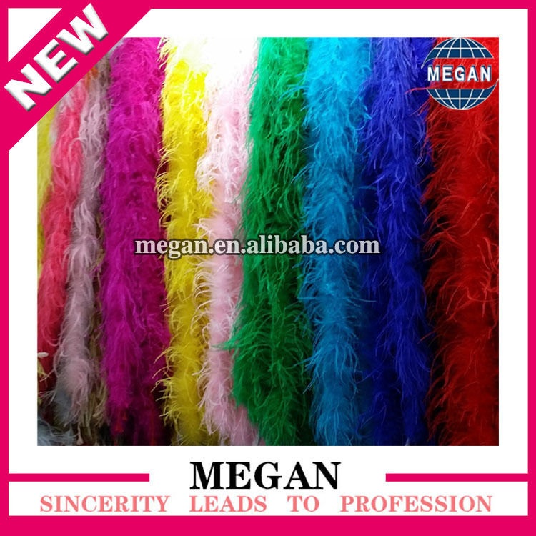 2014 most fashion colorful ostrich feather boa