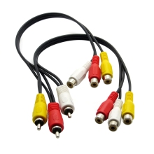 3RCA Male Jack to 6 RCA Female Splitter Audio Video AV TV DVD Adapter Cable