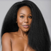 Yoyi Hair Brand Best quality afro kinky straight human hair extension