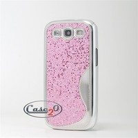 Snowflake Bling Plastic Case for Samsung Galaxy S3